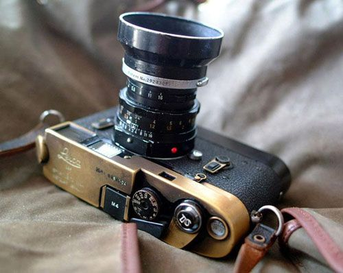 Elliot Erwitt's Leica m3, ooh pretty brass - Rangefinderforum.com