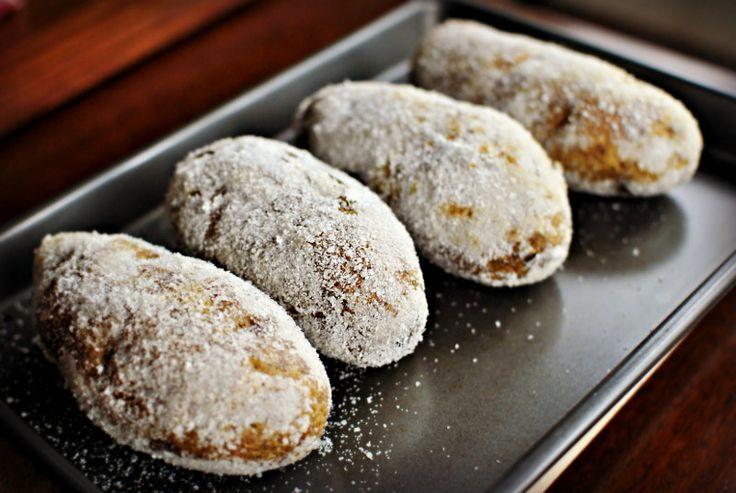 Печеный картофель в соли