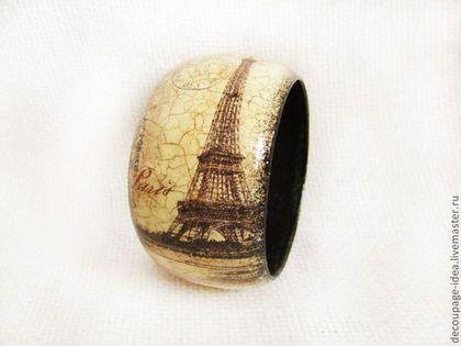 """Браслеты ручной работы. Ярмарка Мастеров - ручная работа. Купить Браслет """"Парижская мода"""". Handmade. Ретро, винтаж, коричневый, платье"""