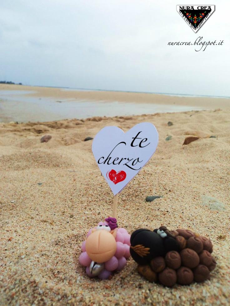 ONE #SHEEP PER WEEK. te cherzo. How to say I love you in Sardinian.  (Literally read I want you)  #brebidisardegna #brebi