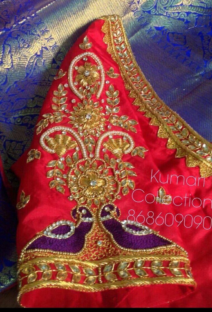 639 best saree images on pinterest embroidery designs aprons blouse neck saree blouse pink saree blouse patterns blouse designs maggam works hand designs designer sarees fashion clothes bankloansurffo Images