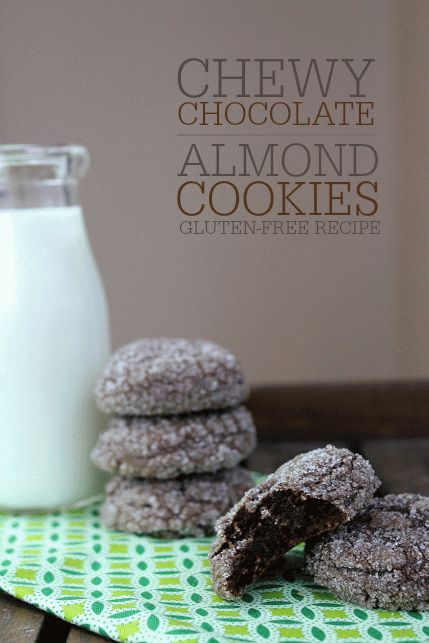 Gluten-Free Chewy Chocolate Almond Cookie Recipe