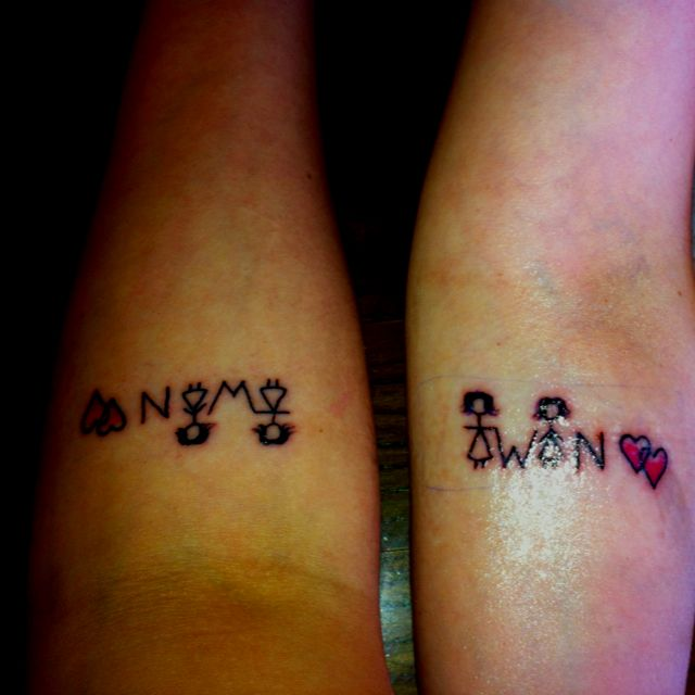 @Hannah Huggart @Rachel Huggart  sister tattoos....