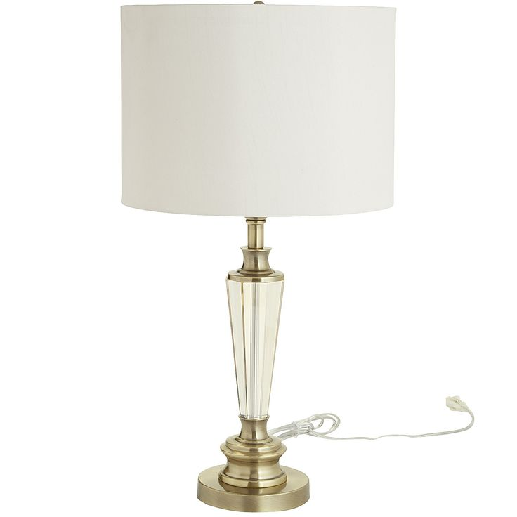 Bronze chatham crystal table lamp antiqued brass cast iron