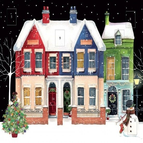 Christmas Advent Calendar Scenic House