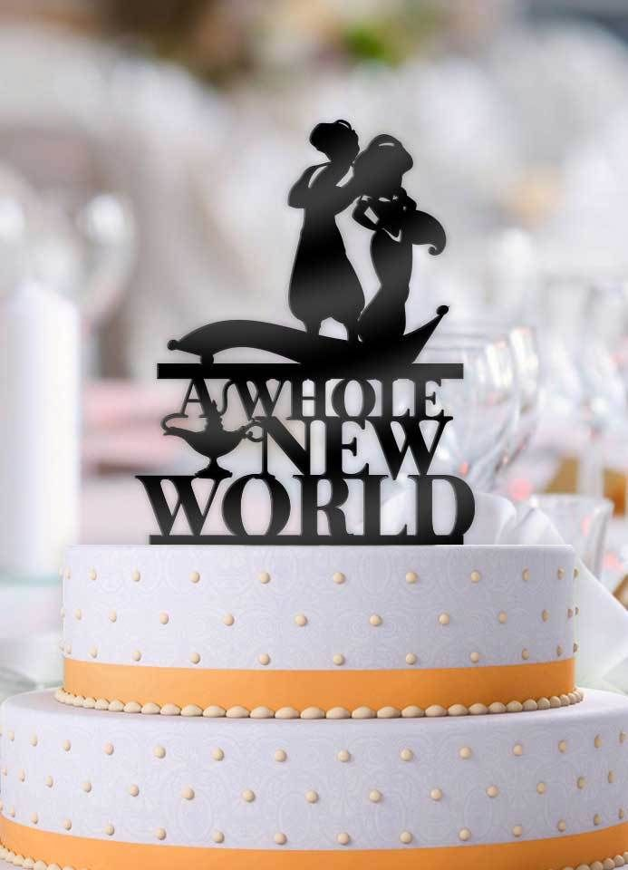 Aladdin And Jasmine A Whole New World Cake Topper Wedding Cake