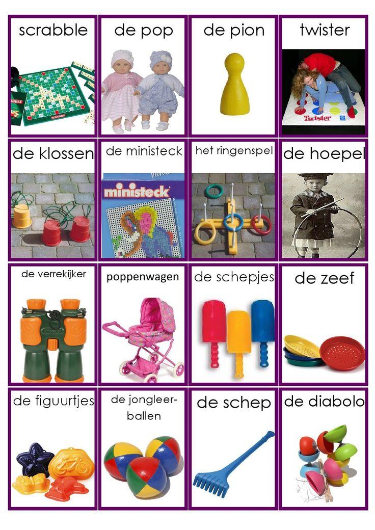 Speelgoed woordkaarten - deel 1