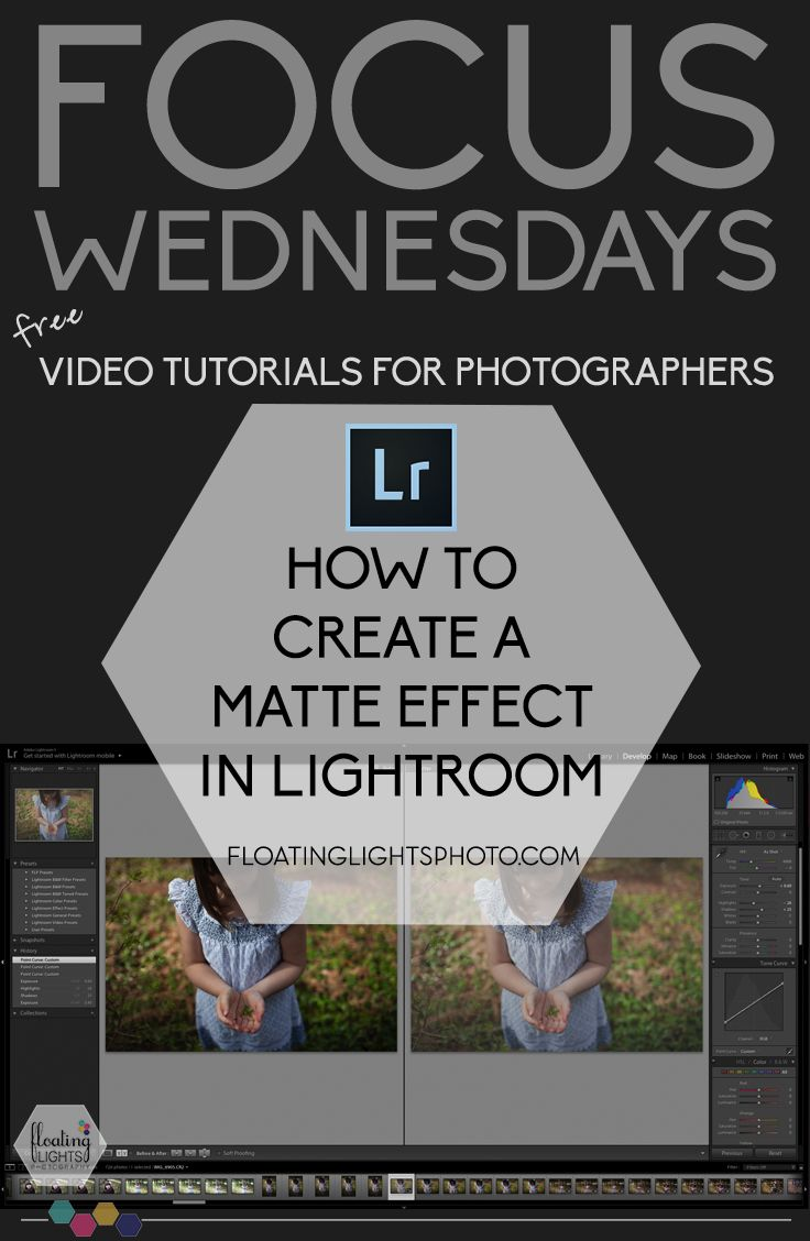how to create a matte finish in lightroom