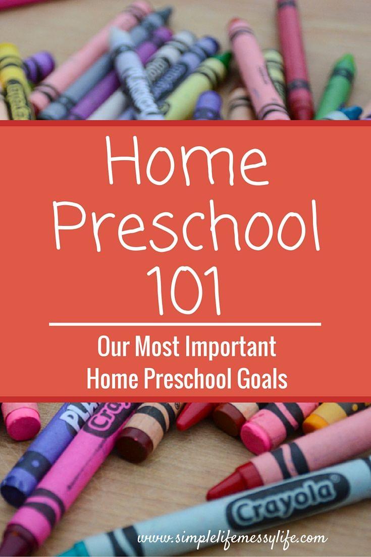 Home Preschool Goals