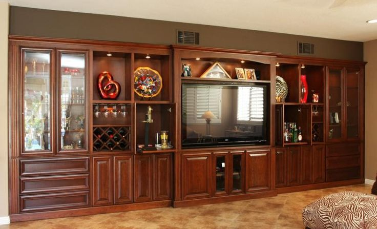 Large tv surround sound entertainment wall units pacific for Large tv wall units