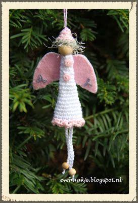 Engel voor in de kerstboom - Angel christmas tree ornament - Haken en Kralen... by EveLYn