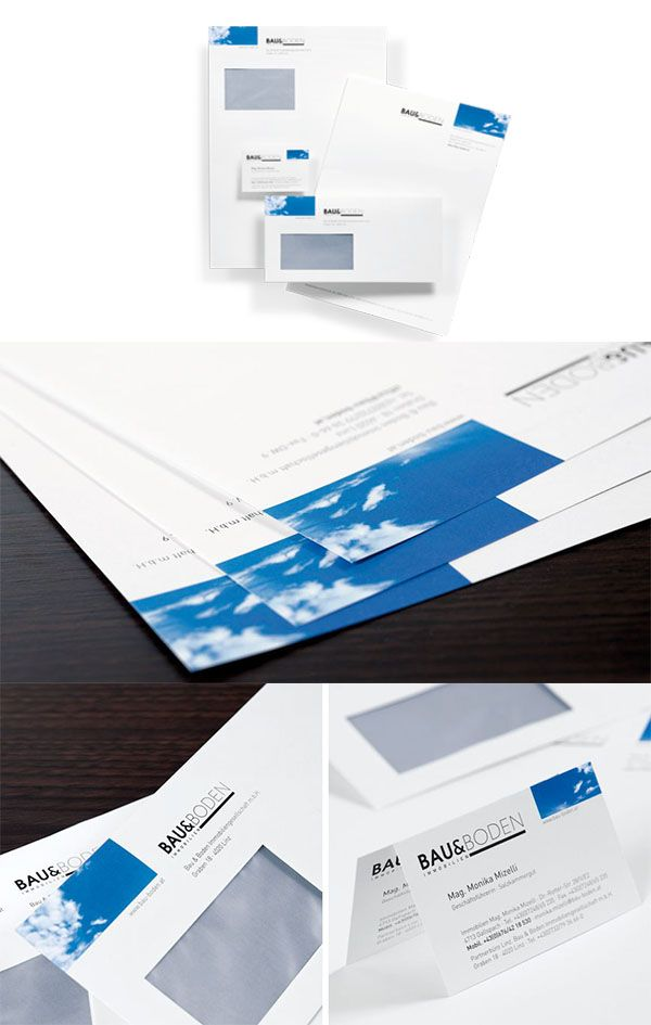 BAU&BODEN IMMOBILIEN // Geschäftsdrucksorten www.lunik2.com #corporate #design #branding #creative #marketing #business #card #befirst