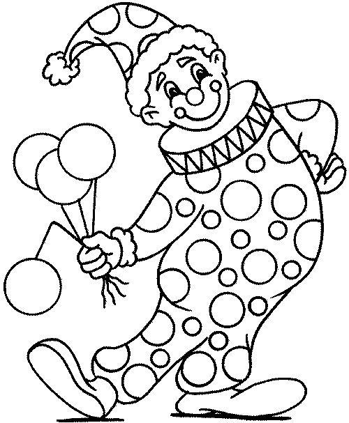 раскраска с клоунами