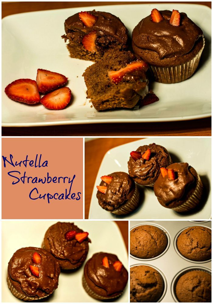 NUTELLA STRAWBERRY CUPCAKES - Well, that's it folks. The winter coats are coming out and your morning coffee bill is rising steadily which can only lead to one conclusion, autumn has arrived and what else can we do on this weather then to bake some amazing cupcakes