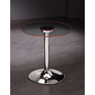 Coaster Furniture Glass Top LED Pedestal End Table - 701497