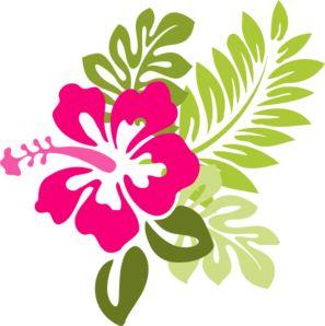 Pink Hibiscus clip art - vector clip art online, royalty free & public domain                                                                                                                                                     Más