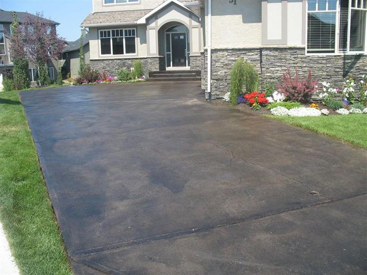 17 best stained concrete images on pinterest concrete for Black stains on concrete