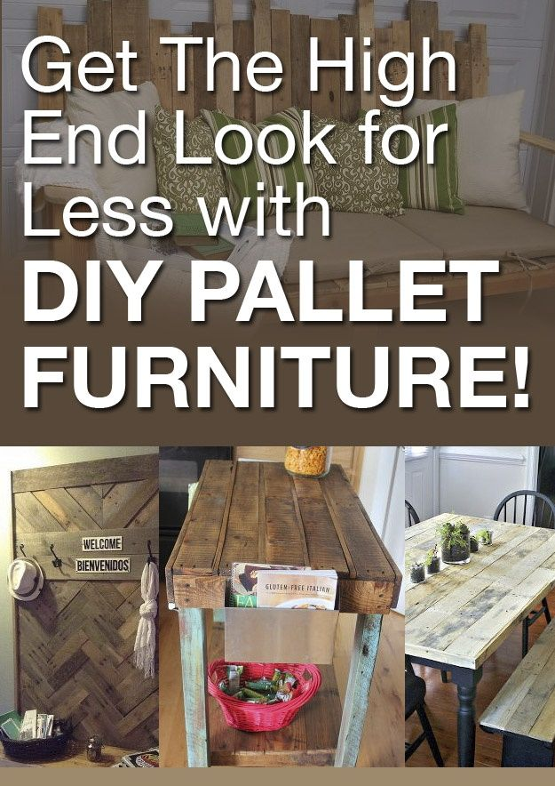 "Check out these fabulous ideas for making your own high-end looking, ""reclaimed wood"" furniture, for a fraction of the price of using wooden pallets!"