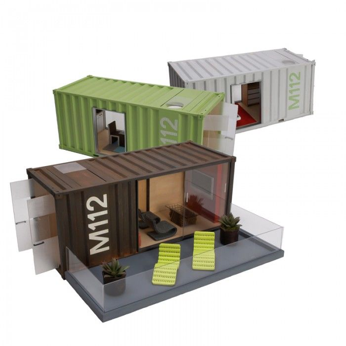 Model Container Homes: tell us these aren't the coolest miniature homes you've ever seen. Go ahead, try!