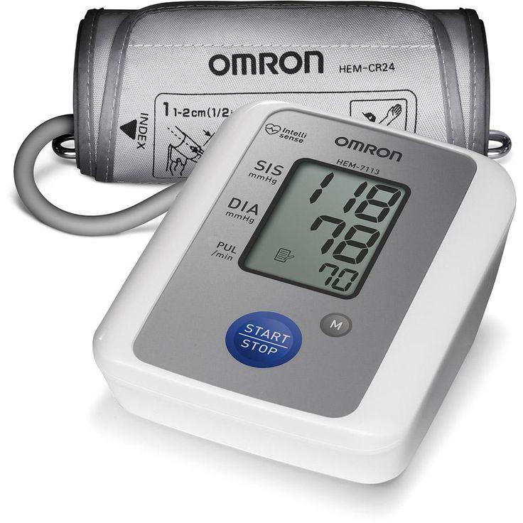 Medidor de Pressão Arterial de Braço Omron HEM 7113 com Detector de Arritmia Cardíaca - Omron com o melhor preço é no Walmart!