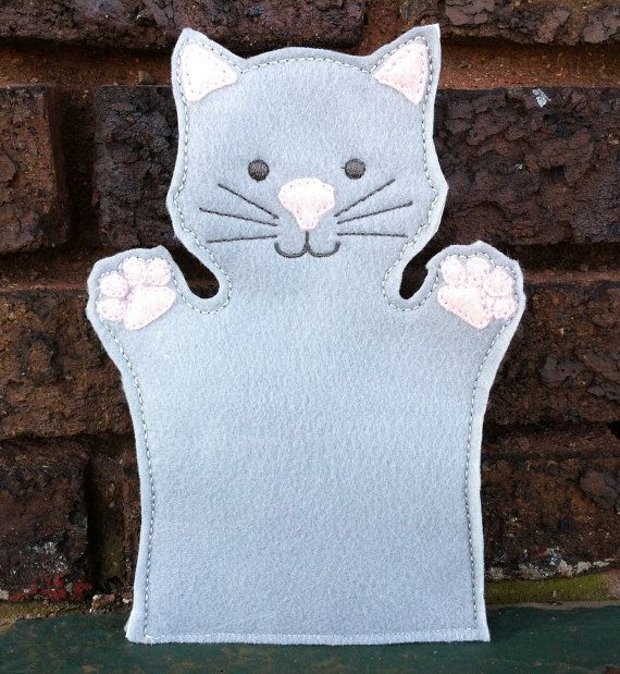 Cat  Pet Set  Animal Felt Hand Puppet by ThatsSewPersonal on Etsy, $10.00
