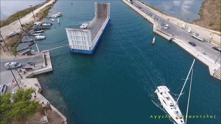Πλωτή γέφυρα Λευκάδας ΑΝΩΘΕΝ - Aerial video by drone Dji Phantom 4