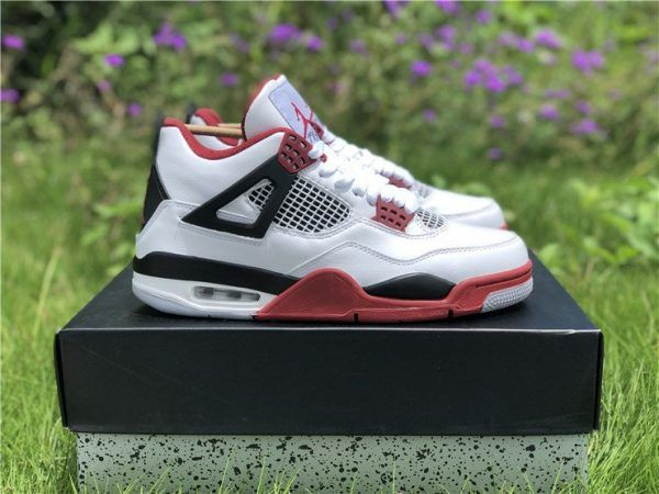 Air Jordan 4 Iv Fire Red With Jumpman Logo Air Jordans Jordan