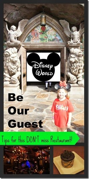 Disney World Be Our Guest Restaurant   ♥  Love this Magic Kingdom Restaurant  ♥