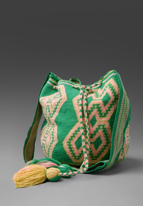 Wayuu Mochila Bags are made by the Wayuu, a group of indigenous people who live in La Guajira Peninsula in northern Colombia and north west Venezuela. Each mochila is hand-made by one woman and with her own signature.