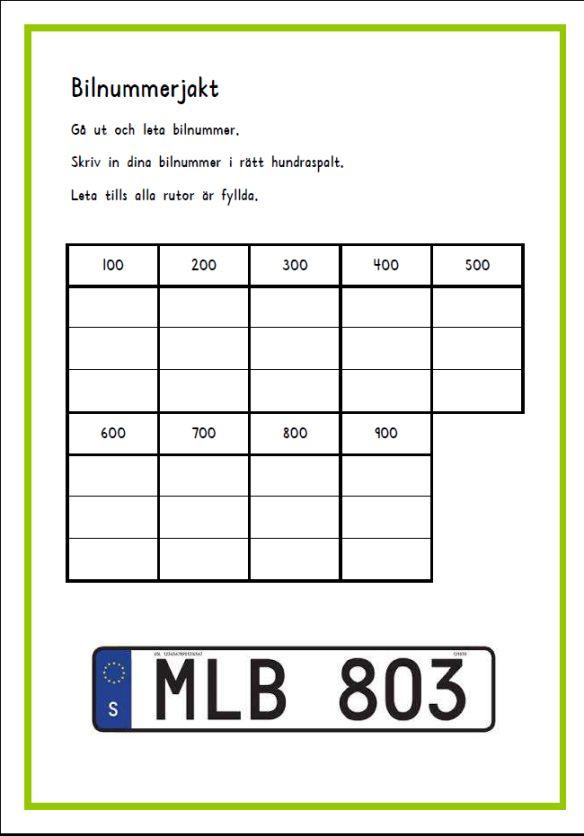 Bilnummerjakt