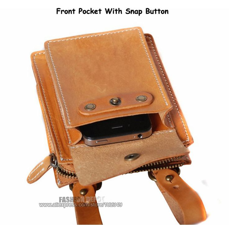 Designer First layer Genuine Leather Waist Bag Vegetable Tanned Waist Leather Wallet Purse belt pouch men women first grade cow