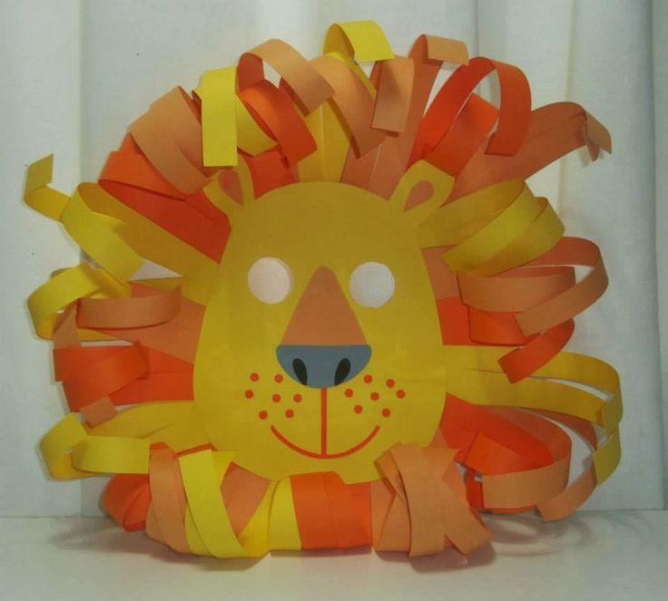 Manualitats i activitats infantils: Uns quadres i una màscara de lleó