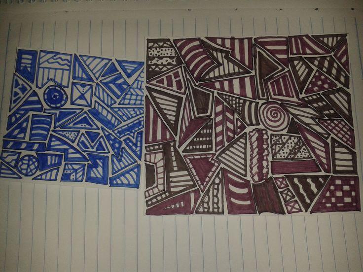 desenho azul: 16/09/15 desenho roxo: 28/09/15