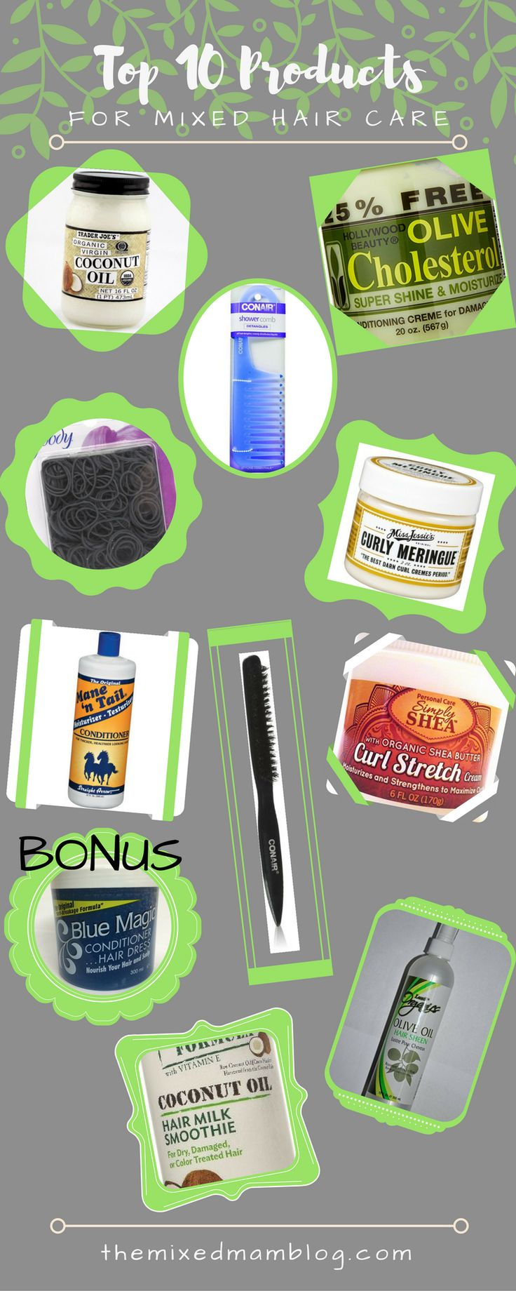 Top 10 INEXPENSIVE Products for Mixed/Multiracial/Biracial Hair Care. -Need ideas for CHEAP products you NEED to try for mixed hair needs? Then give these a try. Check them out on my blog: themixedmamablog.com