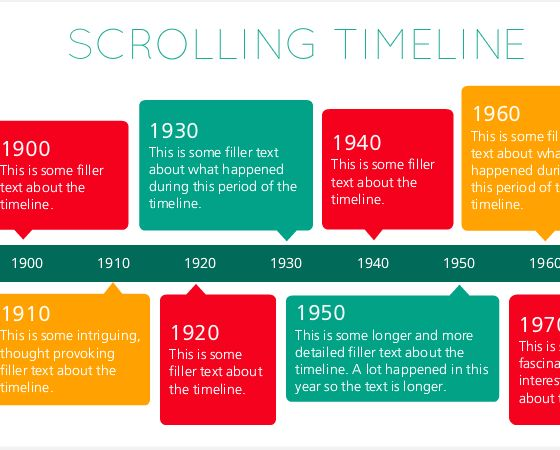 Use this template to add a scrolling horizontal timeline to your next Articulate Storyline 2 e-learning project.