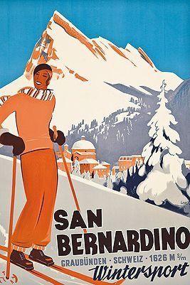 San Bernardino ~ Ernst Otto   #Skiing #SanBernadino #Graubunden #ErnstOtto