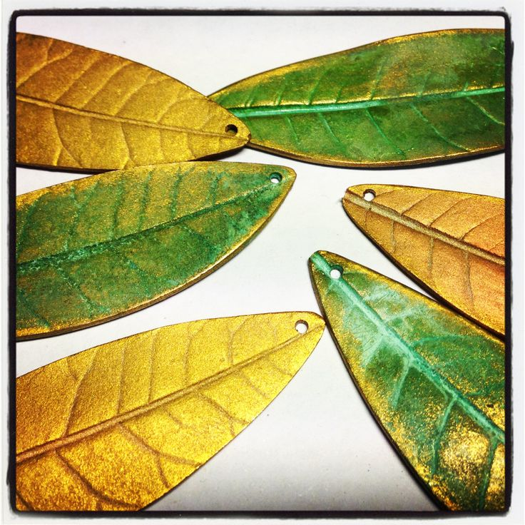 Leaf necklaces in progress...