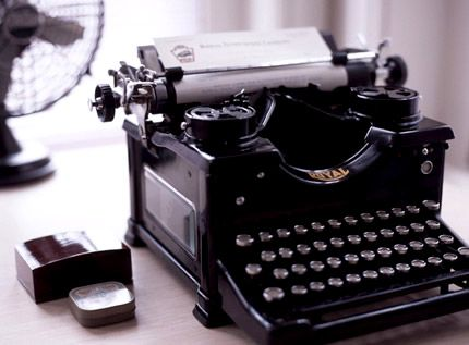 Any vintage typewriter. e-mail is too impersonal.