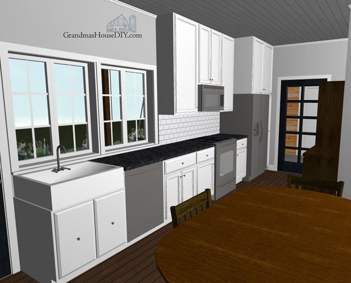 Free House Plan: Modern country home   Free house plans