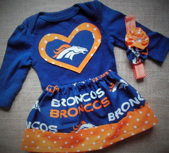Denver Broncos Broncos clothing Denver broncos baby by AzzlinnKaly ... 6c2cea0c3