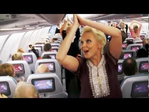 Bollywood dance on a Finnair flight on India's Republic Day