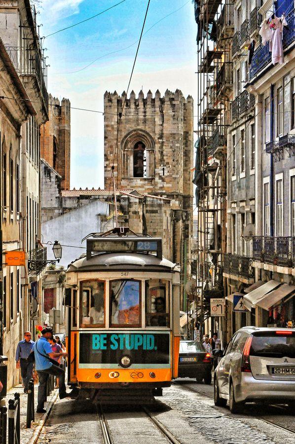Tram, Lisbon, Portugal: Awesome Portugal, Portugal Lisbon, Portugal Dos, Cities, Lisbon Unknown, Future Travel, Lisbon Portugal, Discover Portugal, Favorite Spaces