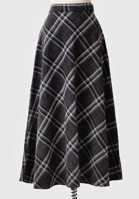 Long Plaid Skirt 73