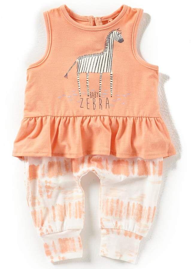 a5e1d703d0e7 Jessica Simpson Baby Girls Newborn-9 Months Ruffle-Hem Tank Top & Tie-Dye  Pant Set #babygirl, #dillards, #promotion