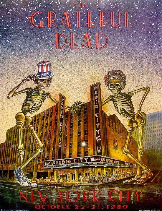 10/22-31/ 1980 ....GREATFUL DEAD ..... Radio City Music Hall ..... New York City