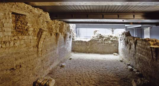 The medieval Priory of St Mary Spital and its large cemetery were located under the new Spitalfields Market. You can still see the remains of the Charnel House in situ and under a transparent platform, http://bit.ly/HIuBZM.
