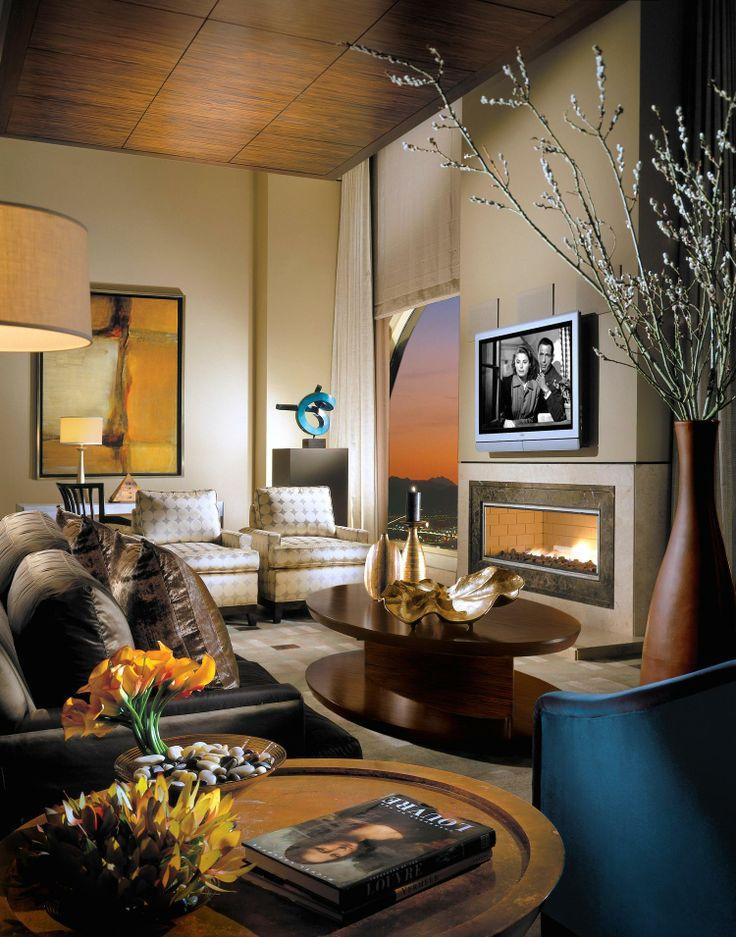 bellagio hotel room with rich interior