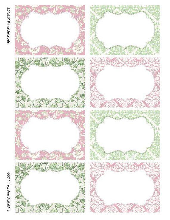 Damasco suave rosa y Salvia imprimir sus por TracyAnnDigitalArt