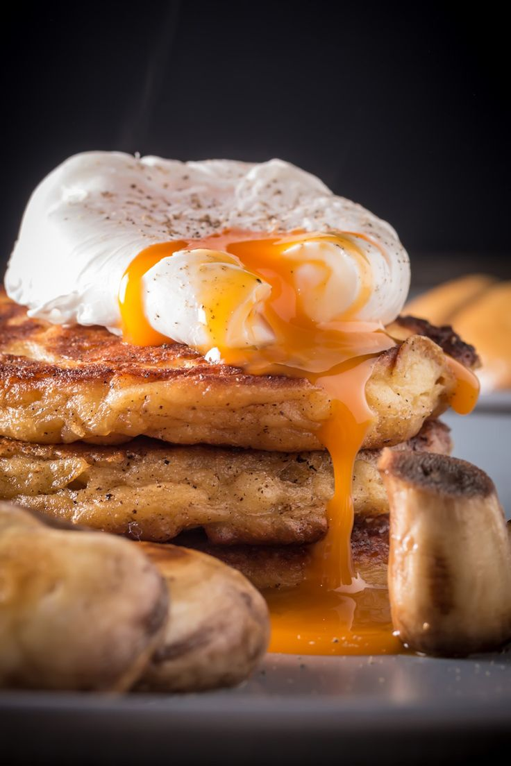 Irish Potato Pancakes with a Poached Egg
