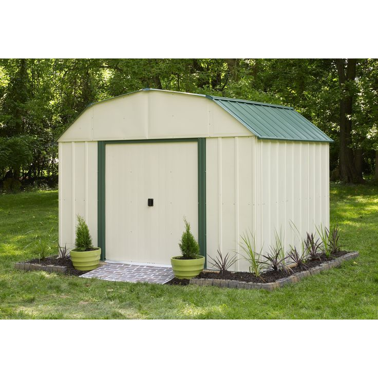 arrow sheridan 10 ft w x 8 ft d steel storage shed